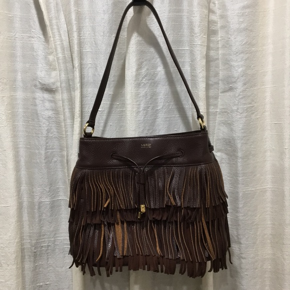 32aaf1afea SALE Ralph Lauren leather boho bag